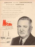 Lee C Moore Corp 1955 Vintage Ad Oil JR Roberts Mgr Ability Experience