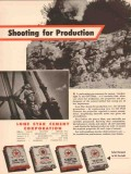 Lone Star Cement Corp 1955 Vintage Ad Oil Field Shooting Production