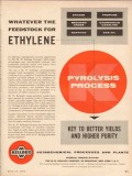 M W Kellogg Company 1955 Vintage Ad Ethylene Pyrolysis Process