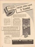 Martin-Decker Corp 1955 Vintage Ad Diamond Cores Rotary Speed Control