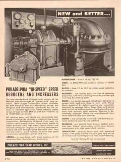 Philadelphia Gear Works 1955 Vintage Ad Oil Hi-Speed Reducer Increaser