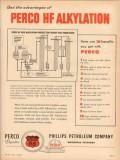 phillips petroleum company 1955 perco hf alkylation fuel vintage ad