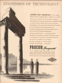 Procon Inc 1955 Vintage Ad Petroleum Statesmen Technology Roman Forum