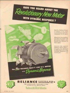 reliance electric engineering company 1955 super t dc motor vintage ad