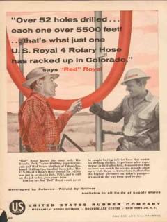 United States Rubber Company 1955 Vintage Ad Falcon-Seaboard Drilling