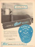 Visco Products Company 1955 Vintage Ad Chemical Blue Emulsion Breaking
