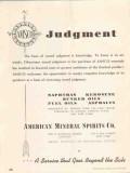 American Mineral Spirits Company 1937 Vintage Ad Oil Judgment Kerosene