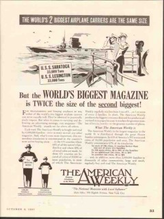 the american weekly 1937 worlds biggest magazine media vintage ad