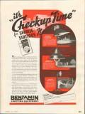 benjamin electric mfg company 1937 lighting check-up time vintage ad