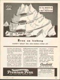 canfield oil company 1937 iceberg 3-way protection winter vintage ad
