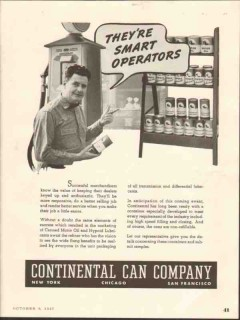 continental can company 1937 smart operators motor oil vintage ad