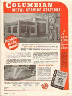 columbian steel tank company 1937 metal service stations vintage ad