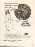 Humble Oil Refining Company 1937 Vintage Ad Thredkote Galling Allowed