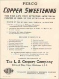 L S Gregory Company 1937 Vintage Ad Oil Perco Copper Sweetening Cost
