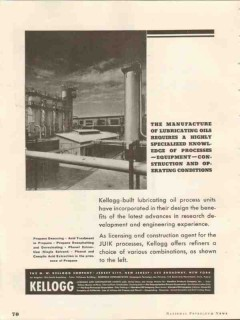 M W Kellogg Company 1937 Vintage Ad Lubricating Oil Process Units