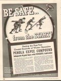 Penola Inc 1937 Vintage Ad Lubricant Hypoid Expee Compound Safe Start