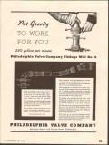 Philadelphia Valve Company 1937 Vintage Ad Oil Fittings Gravity Work