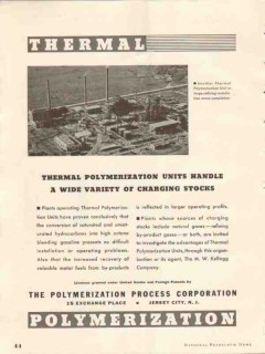 polymerization process corp 1937 thermal units gasoline vintage ad