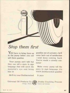 universal oil products company 1937 stop them gasoline vintage ad