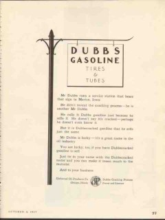universal oil products co 1937 dubbs gasoline tires tubes vintage ad