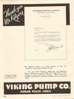 Viking Pump Company 1937 Vintage Ad Oil Panhandle Refining Co Kilgore