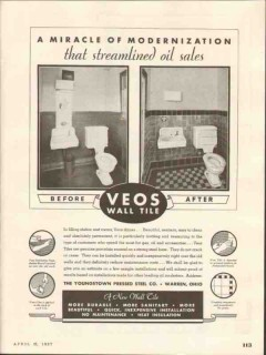 youngstown pressed steel company 1937 modern veos wall tile vintage ad