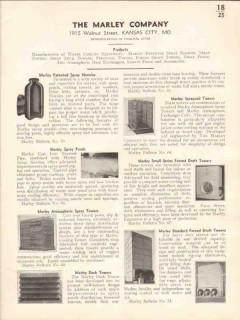 Marley Company 1936 Vintage Catalog Water Cooling Towers Spray Nozzles