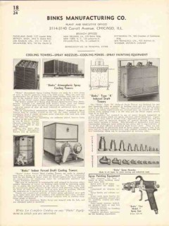 Binks Mfg Company 1936 Vintage Catalog Cooling Towers Spray Nozzles