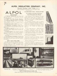 Alfol Insulation Company 1936 Vintage Catalog Aluminum Foil Insulate
