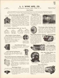 L J Wing Mfg Company 1936 Vintage Catalog Heaters Featherweight Door