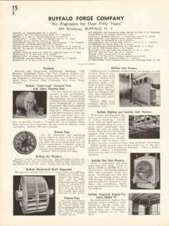 Buffalo Forge Company 1936 Vintage Catalog Heater Cooler Air Engineers