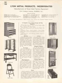 Lyon Metal Products Inc 1936 Vintage Catalog Steel Storage Shop Equip