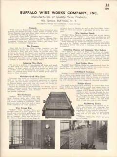 Buffalo Wire Works Company 1936 Vintage Catalog Screening Cloth Gates