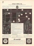 Atlas Fence Company 1936 Vintage Catalog Chain Link Rust Resisting