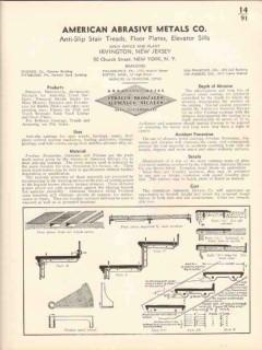 American Abrasive Metals Company 1936 Vintage Catalog Stairs Anti-Slip