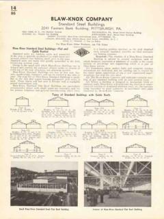 Blaw-Knox Company 1936 Vintage Catalog Standard Steel Buildings Roofed