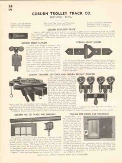 Coburn Trolley Track Company 1936 Vintage Catalog Door Hangers Hinges