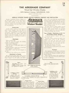 Aeroshade Company 1936 Vintage Catalog Window Shades Ventilate Aerolux