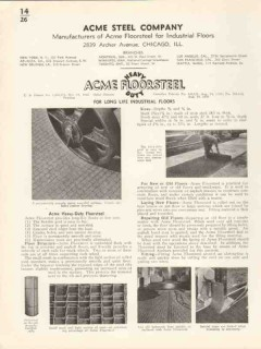 Acme Steel Company 1936 Vintage Catalog Floor Floorsteel Industrial