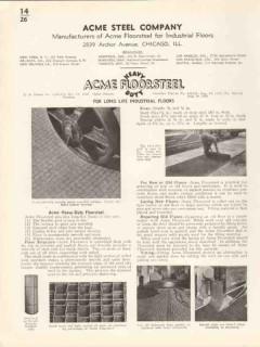 Acme Steel Company 1936 Vintage Catalog Floor Floorsteel Industrial