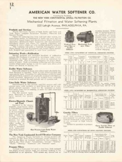 American Water Softener Company 1936 Vintage Catalog Pool Refiltration