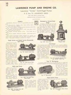 Lawrence Pump Engine Company 1936 Vintage Catalog Vortex Centrifugal