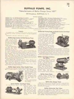 Buffalo Pump Inc 1936 Vintage Catalog Suction Centrifugal Sewage