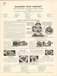 Blackmer Pump Company 1936 Vintage Catalog Integrated Lined Rotary