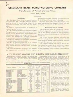 Cleveland Brass Mfg Company 1936 Vintage Catalog Acimet Chemical Valve