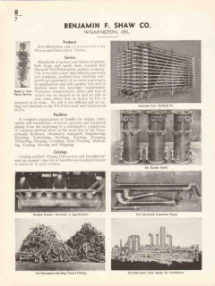 Benjamin F Shaw Company 1936 Vintage Catalog Piping Industrial