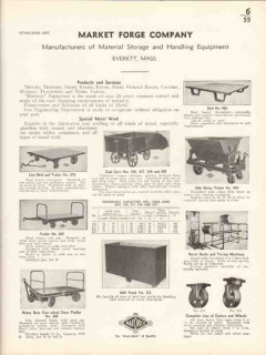 Market Forge Company 1936 Vintage Catalog Material Handling Equipment