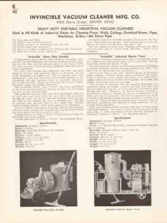 Invincable Vacuum Cleaner Mfg Company 1936 Vintage Catalog Heavy Duty