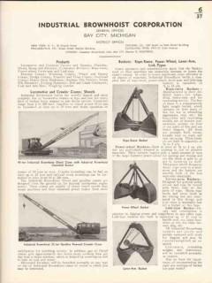 Industrial Brownhoist Corp 1936 Vintage Catalog Locomotive Cranes