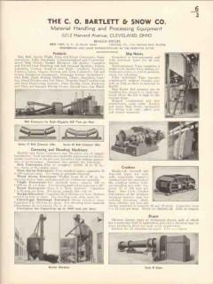 C O Bartlett Snow Company 1936 Vintage Catalog Convey Elevate Hoist